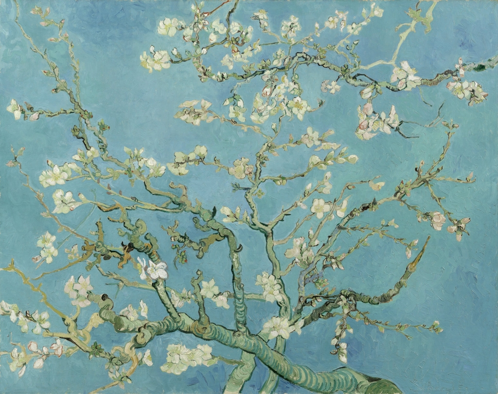 Almond Blossoms (1890) by Vincent van Gogh